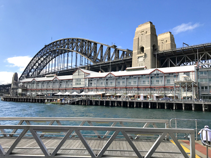 Bridge from wharves