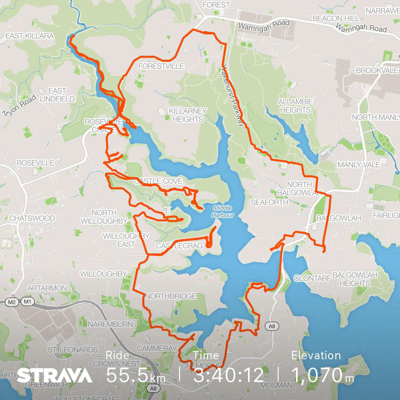 Middle Harbour STRAVA